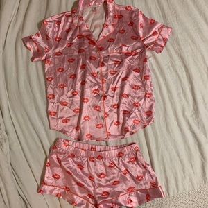 Victoria's Secret Silk Pajama Set